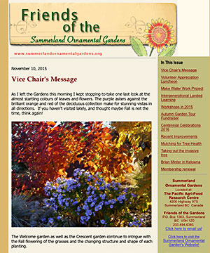 Friends of the Summerland Gardens newsletter