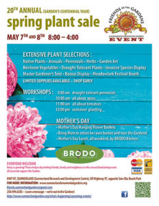 Friends of the Summerland Gardens Spring Plant Sale 2016 poster